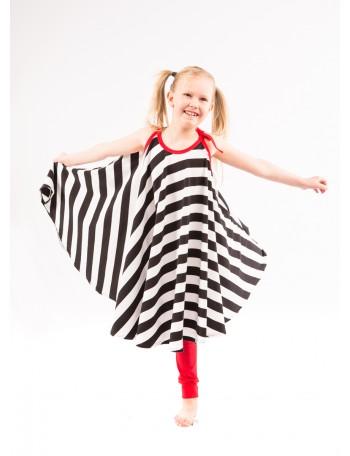 TIINALIINA lasten mekko, palkkiraita