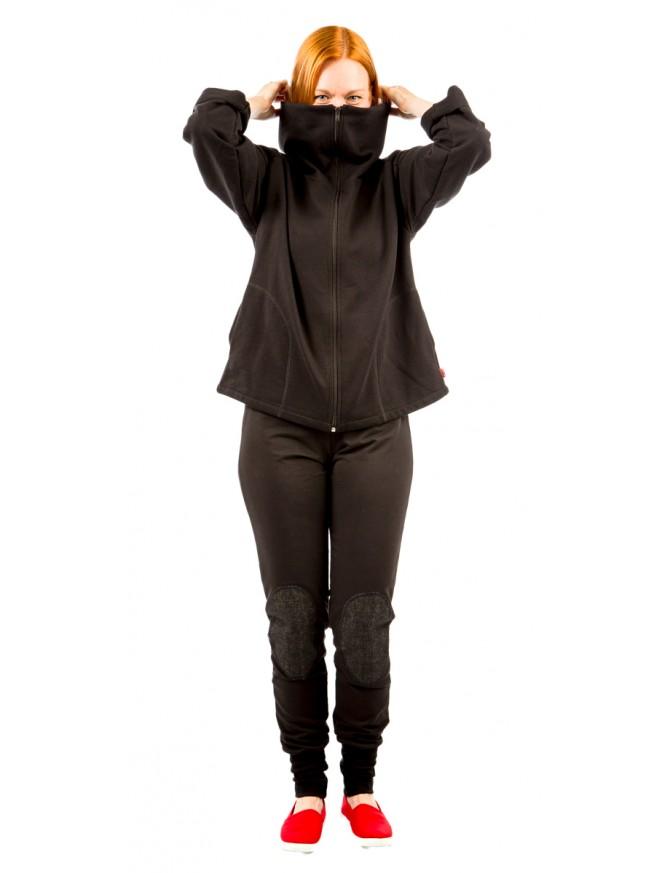 MIINATAR -housut, musta&musta denim