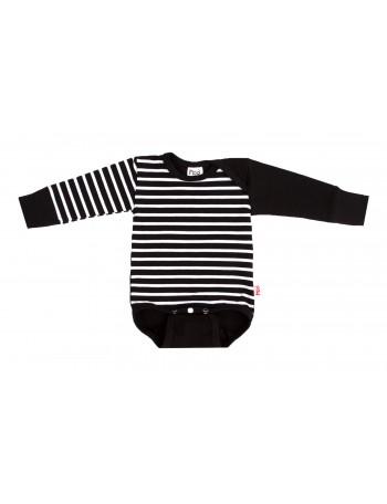 PILVI-PIETARI body suit, liquorice stripe