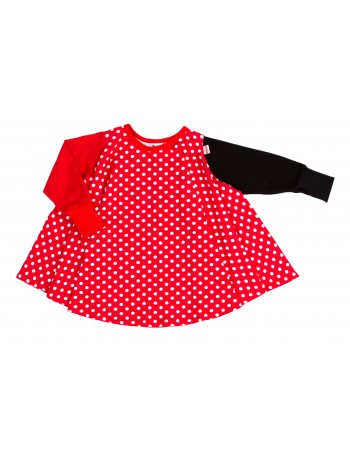 MIIALIINA mekko, punainen pallo
