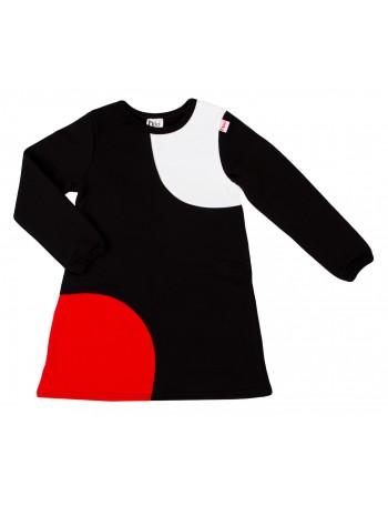 SAAGA mekko, musta-valko-punainen