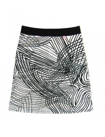 RIIKKA women's skirt, horizontal stripe