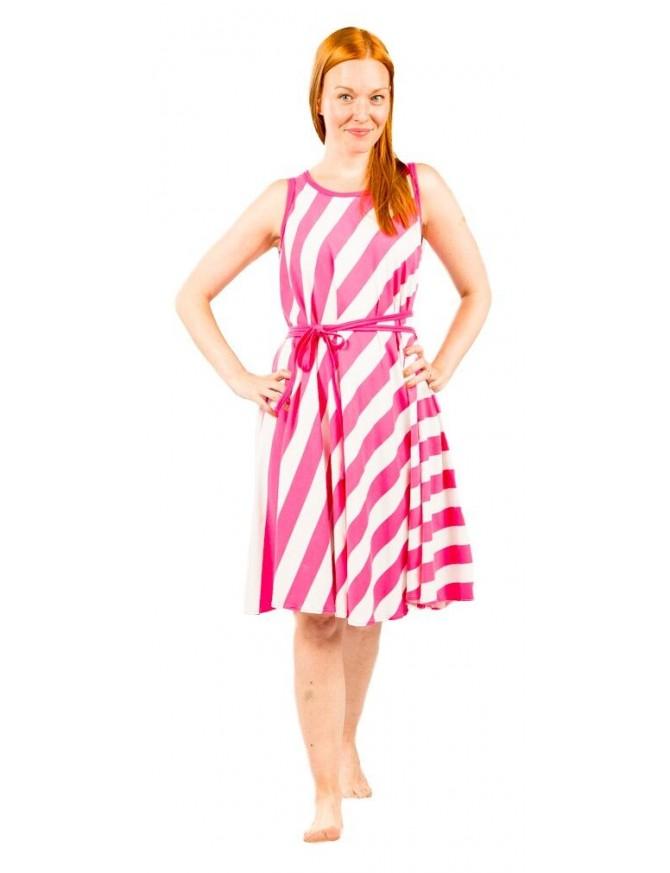 LIINATAR mekko, pinkki palkkiraita