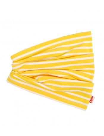 USVA tuubihuivi, keltainen lakuraita