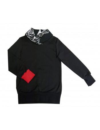 AAVA-ALEKSI paita, musta AMETISTI